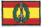 Spain flag embroidered with MOE logo