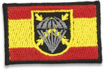 Spain flag embroidered with BRIPAC logo