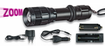 Flashlight ALBAINOX Rechargeable. With zoom