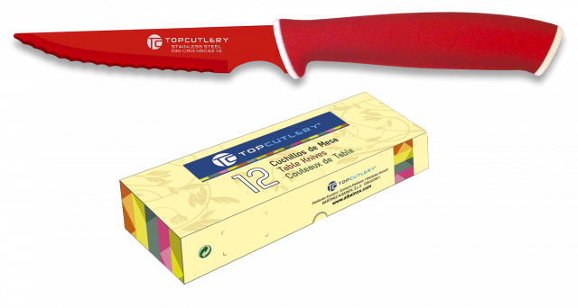Table knife TOP CUTLERY. Red