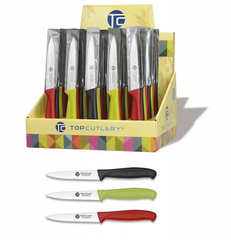 Display 48 pcs. Paring knives. 10 cms