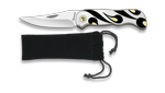 Pocket knife ALBAINOX Zinc black, silver and creme