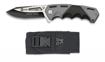 Pocket knife K25 FOS black/grey 9 cm