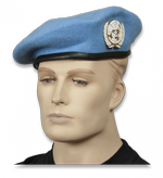 Blue Beret ONU with badge. Size-60