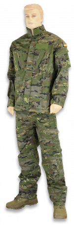 Spanish Green Camo Suit 2 pcs Size XL