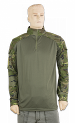 Combat shirt. Green Camo Pixel. XL