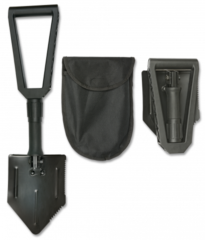 Metal foldable Shovel. Black
