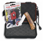 SET: Box+Fire starter+Pocket knife