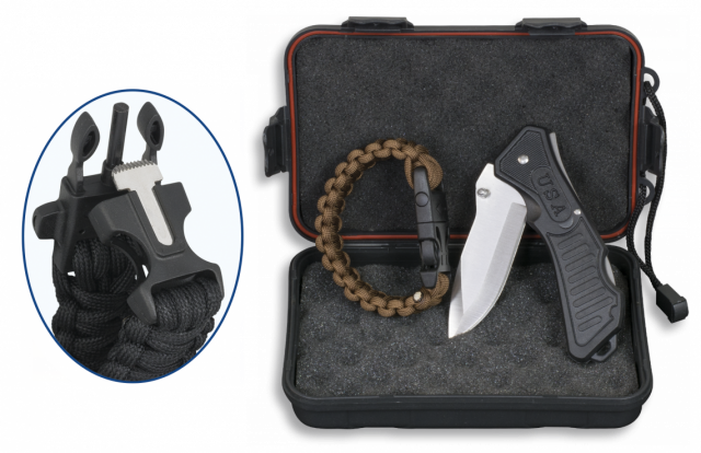 SET: Box+Pocket knife+Paracord