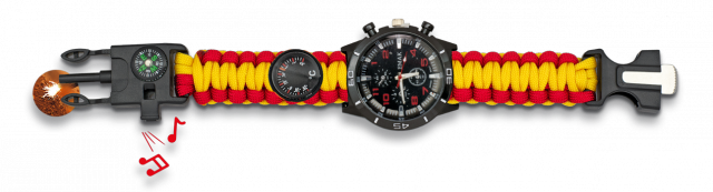 Survival paracord watch BARBARIC Spain