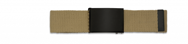 Belt BARBARIC tan. Black buckle