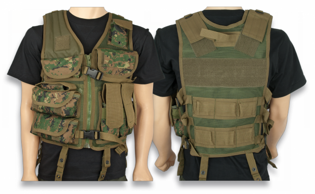 Tactical Vest BARBARIC FORCE. Camo 600D PVC