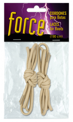 Laces for boots. BARBARIC FORCE. colour Tan 190 cm