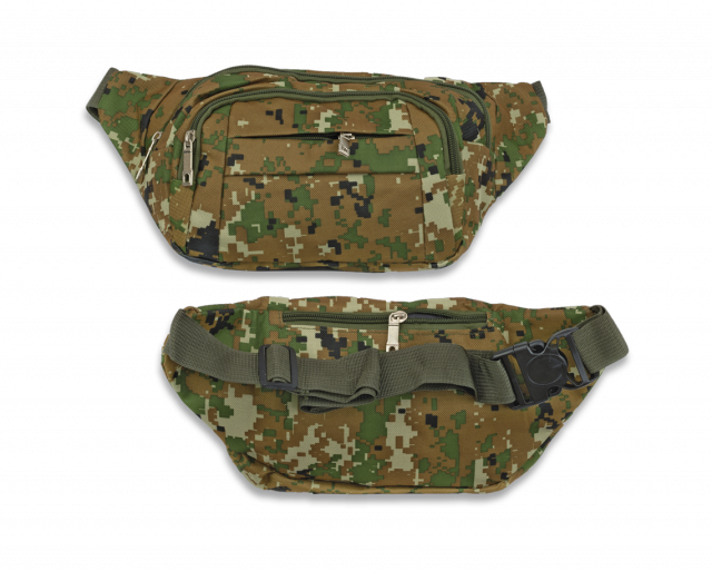 Fanny pack Barbaric. Camo pixel