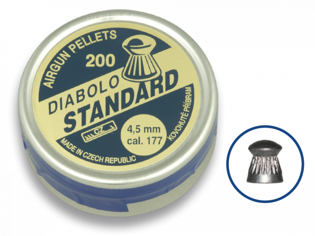 Airgun Pellets DIABOLO STANDARD 4.5 (200pcs)