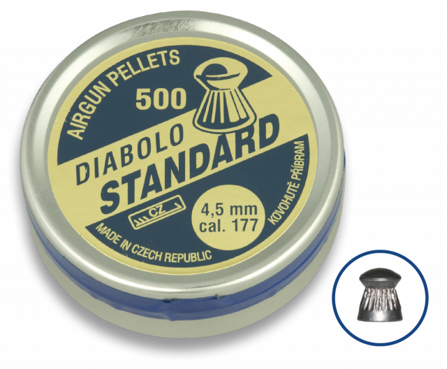 Airgun Pellets DIABOLO STANDARD 4.5 (500pcs)