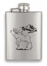 Hip Flask ALBAINOX 3.5 oz Deer