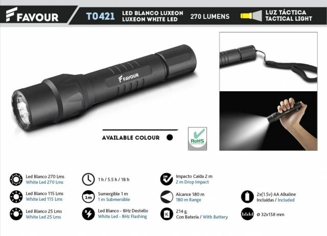 Tactical Light FAVOUR 270 LM
