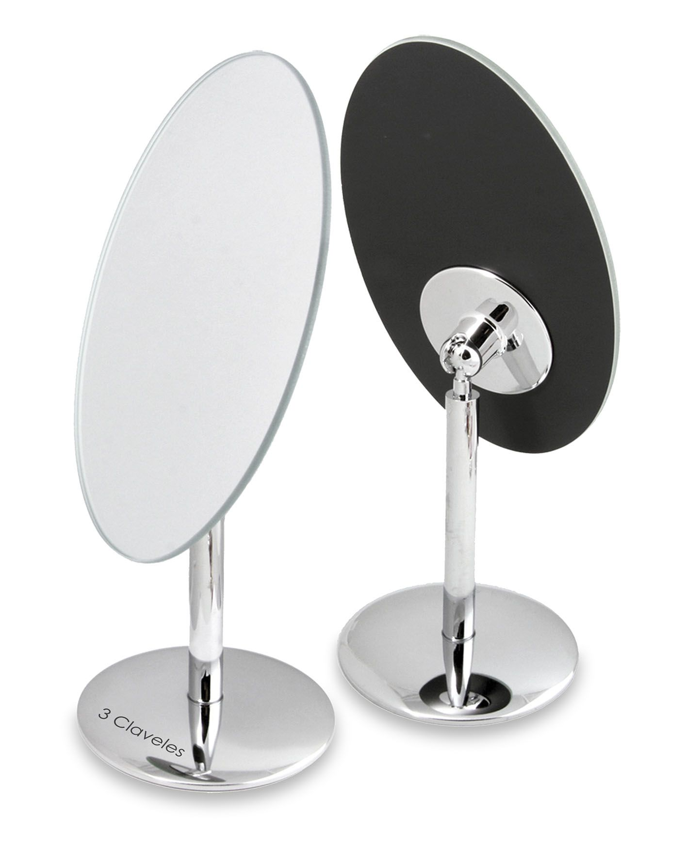 OVAL MIRROR SWIVEL BASE -13x11 cm  - 1x 3C