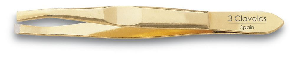 GOLD STRAIGHT TWEEZER 9 cm. D 3C