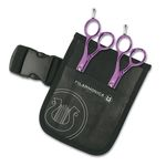 "KIT ALUMINIUM PURPLE HAIRDR. SCISSORS 5.5"" FIL"
