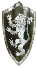 Lion medieval shield