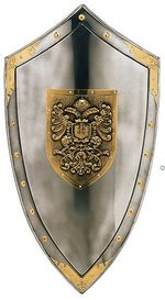 Bicephalous medieval shield 970.6