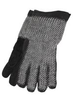 0501032600 Leather gloves with chain mail on back