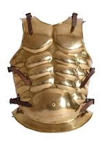 1016607101 Greco-Roman brass muscled chest