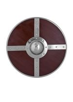 1101060100 Round wooden shield with steel fittings