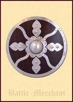 1101064700 Round viking shield with steel accessories