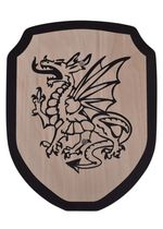 1580370100 Wooden shield for children Fire dragon