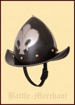 1716413416 Morion helmet with French lily, 16th century, 1.6 mm steel