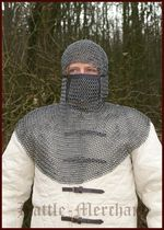 BMSB-CSV Chain mail hood or executioner with square mouth guard