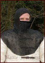 BMSB-CTV Chainmail hood with triangular mouth guard