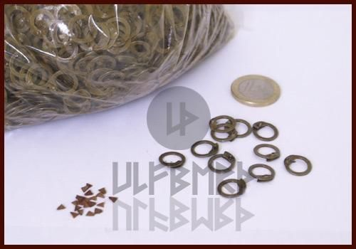 ULF-FRW-LR Bag of 1 kg of flat rings with wedge rivet for mesh dimensions