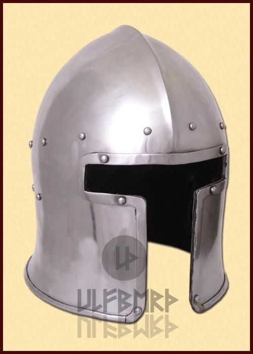 ULF-HM-11 Casco Barbuta italiana, 1440 c, acero de 2 mm