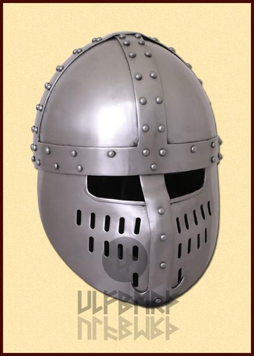 ULF-HM-14 Clasp helmet with front plate, 1.6 mm steel for recreation