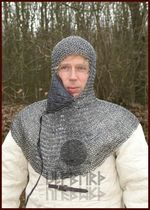 ULF-RRR-CTV Hangman or riveted chainmail hood with jaw protector