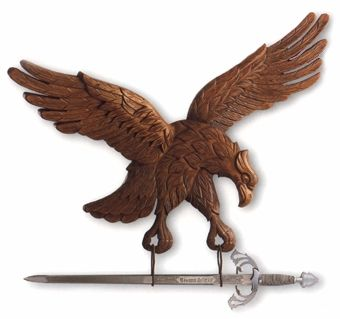 Wooden Panoply flying eagle without sword