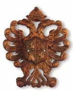 Wooden Panoply Imperial Eagle without swords