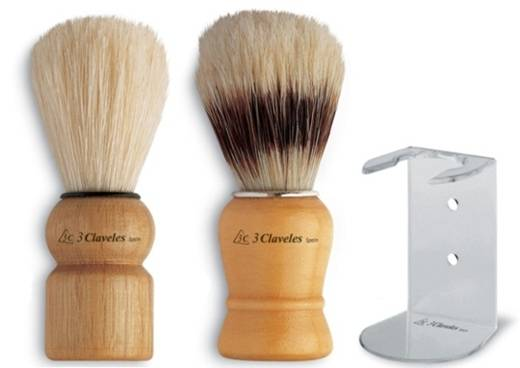 3 claveles brushes to shave