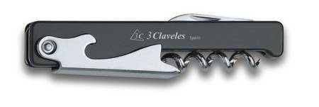3 CLAVELES CORKSCREW WITH POCKRTKNIFE