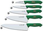 KITCHEN KNIVES WITH GREEN HANDLE