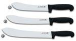 3 CLAVELES KNIVES WITH BLACK POLYPROPYLENE HANDLE