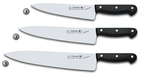 KITCHEN KNIVES WITH BLACK HANDLE