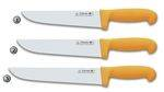STAINLESS KNIVES WITH YELLOW HANDLES TRES CLAVELES
