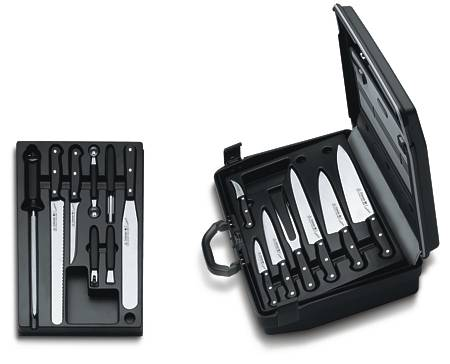 BRIEFCASE WITH PROFESSIONAL KNIVES AND UTENSIL