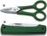 SCISSORS AND POCKETKNIFE WITH INSULATING HANDLES FOR PROFESIONALS