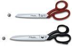 PROFESIONALS SCISSORS WITH RED AND BLACK ENAMELED HANDLES